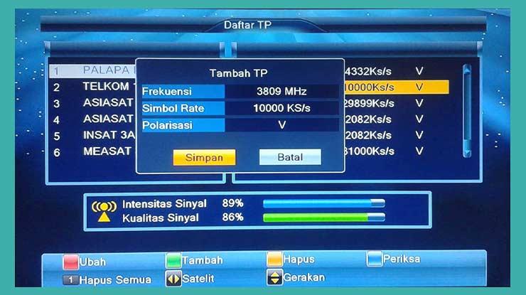 Daftar Frekuensi RCTI Di Telkom 4