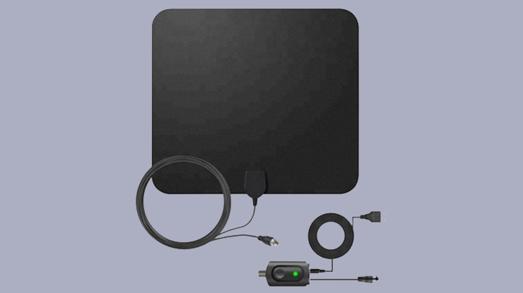 Antena TV Digital Indoor Bentuk Kotak