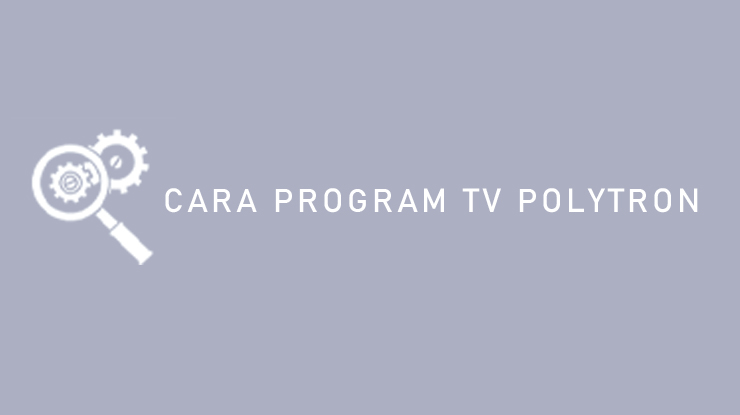 CARA PROGRAM TV POLYTRON