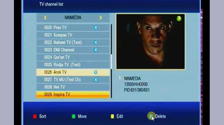 Menghapus Channel TV Pada TV LED
