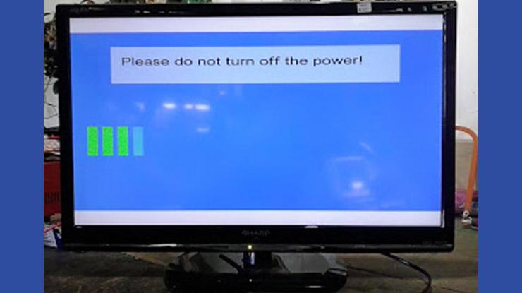 Penyebab Update Firmware TV Sharp Gagal