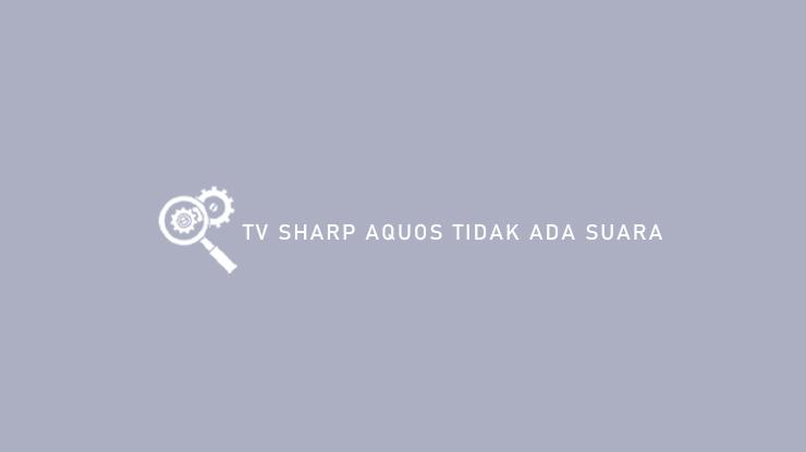 TV Sharp Aquos Tidak Ada Suara