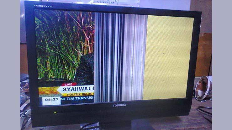 TV Toshiba Gambar Setengah