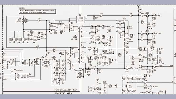 Skema Power Supply Polytron HBT