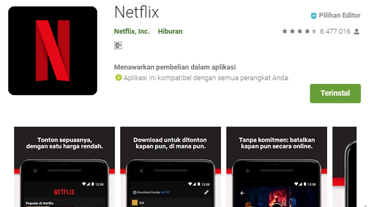 Download aplikasi Netflix di Android iPhone