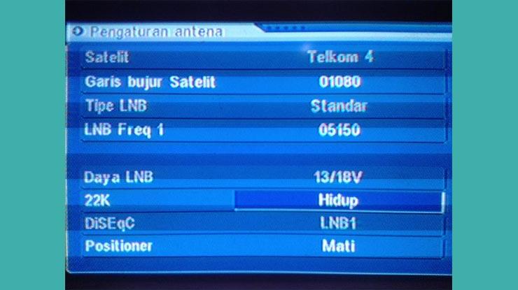Frekuensi Di Satelit Telkom 4