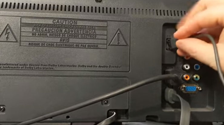 Hubungan Chromecast ke sumber listrik