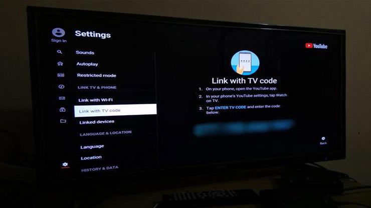 Nonton Youtube di TV Dengan Kode TV
