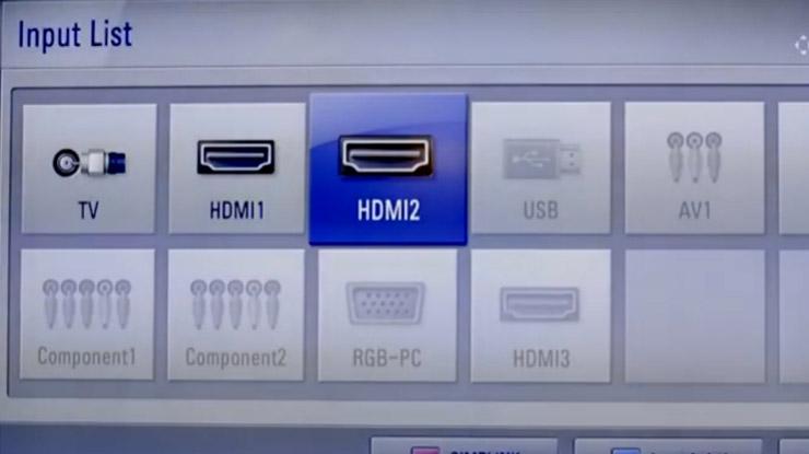 Pilih sumber HDMI di TV yang terhubung ke Roku