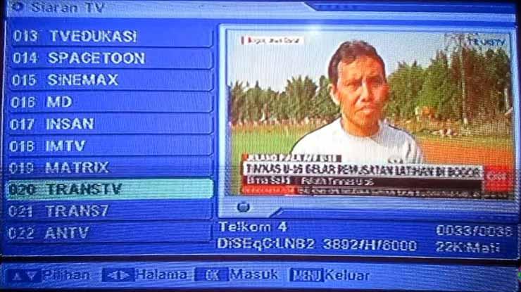 Trans TV berhasil didapatkan