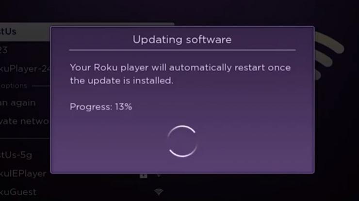 Tunggu beberapa saat sampai Roku selesai diperbarui