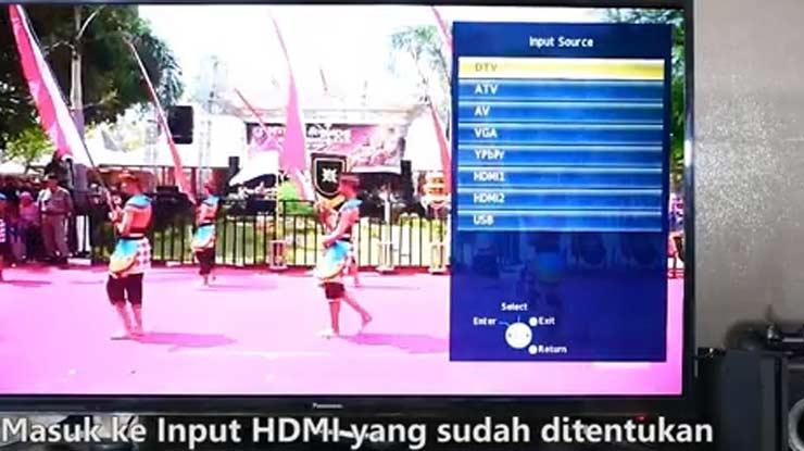 arahkan saluran TV ke HDMI