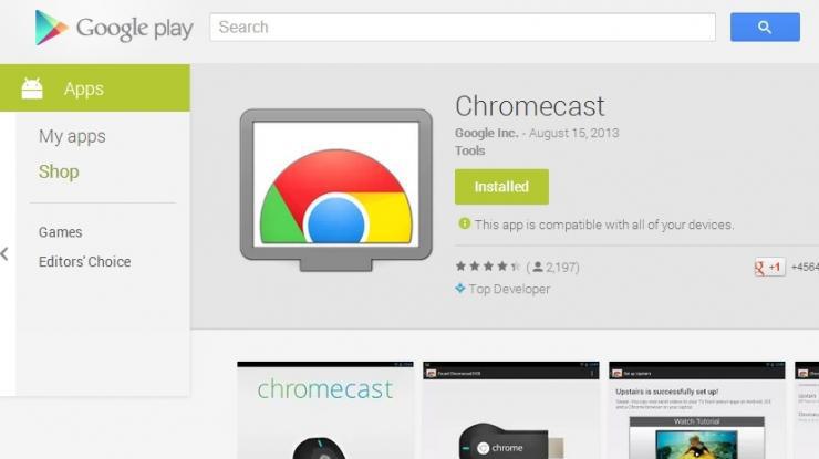 download dan install aplikasi Chromecast