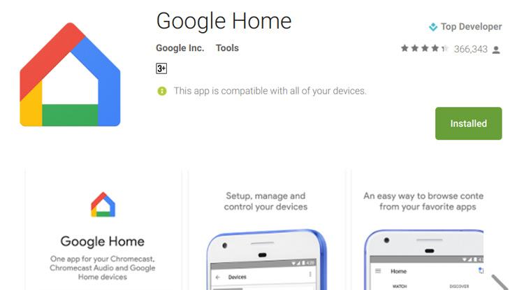 download dan install aplikasi Google Chromecast di Play Store