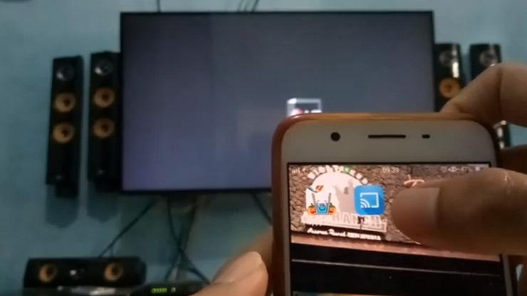 hidupkan WiFi lalu buka aplikasi miracast