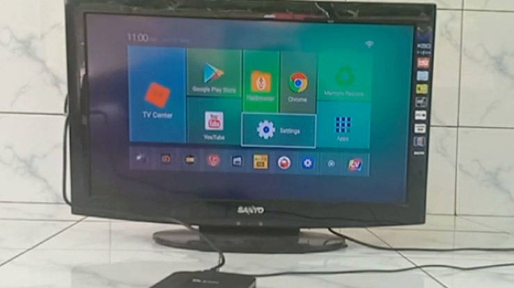 menu utama Android TV Box lalu buka aplikasi Youtube
