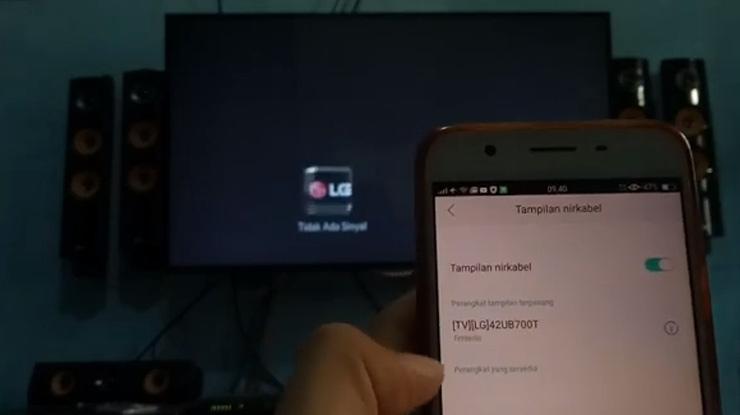nama device pada layar Hp