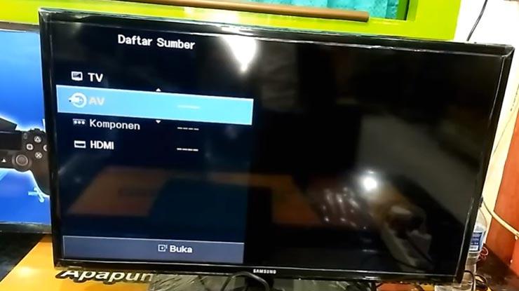 pilih input HDMI yang benar
