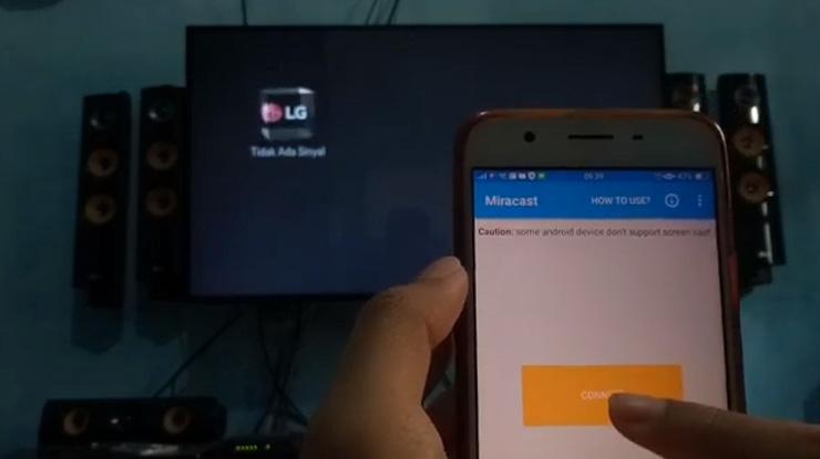 tekan connect dan nyalakan interaksi multilayar smart screen view oppo