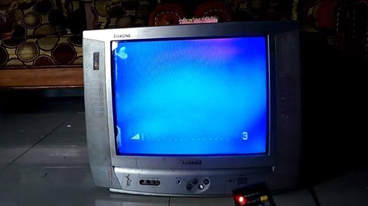 tekan tombol Volume jika volume TV berkurang menandakan remot sudah bisa berfungsi dan setting remot berhasi