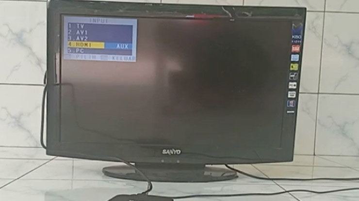ubah input saluran TV menjadi HDMI
