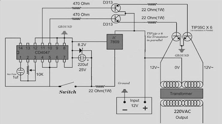Skema Inverter 5000 watt