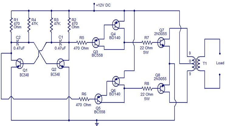 Skema Inverter 60 watt