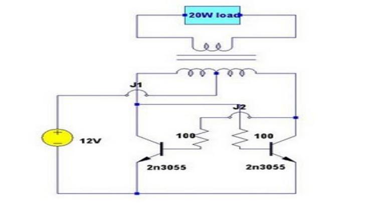 Skema inverter 20 watt