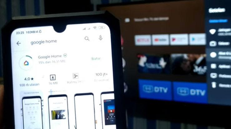 download dan install aplikasi Google Home di ponsel