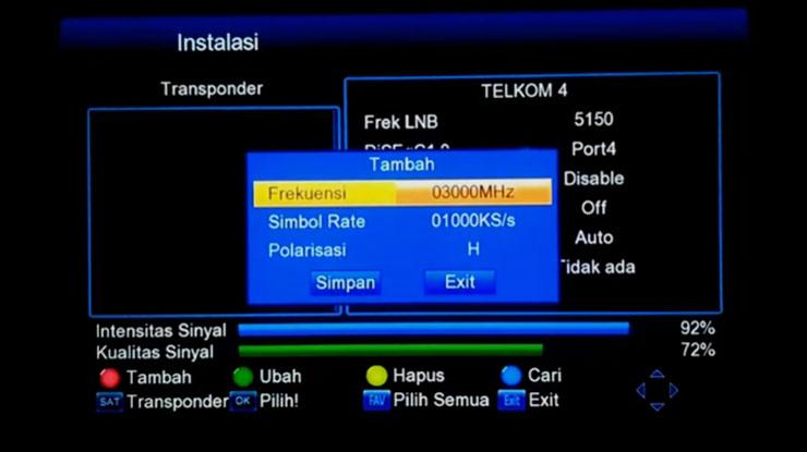 masukan data transponder
