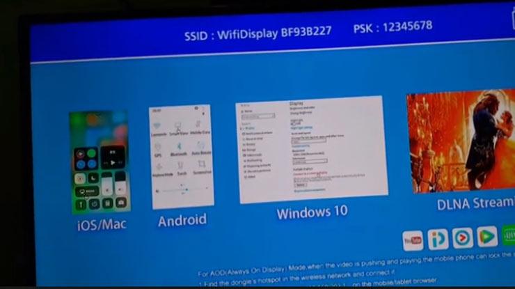 menu WiFi Display kemudian aktifkan Screen Mirroring