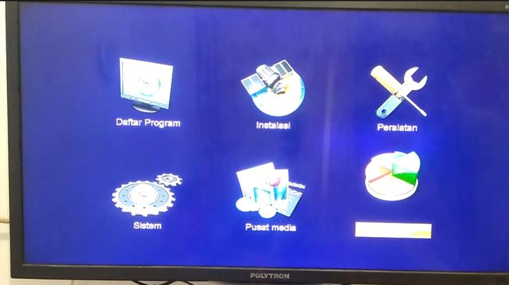 menu pengaturan satelit instalasi