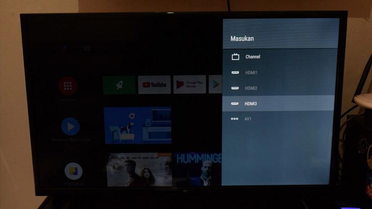 pindahkan input saluran TV ke HDMI