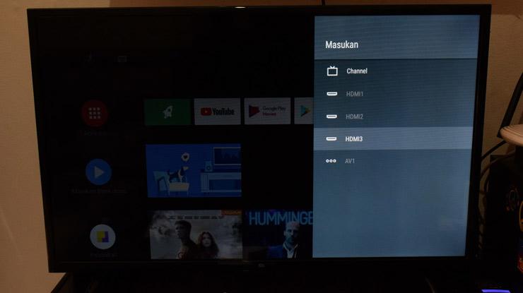 ubah setelan saluran TV ke HDMI