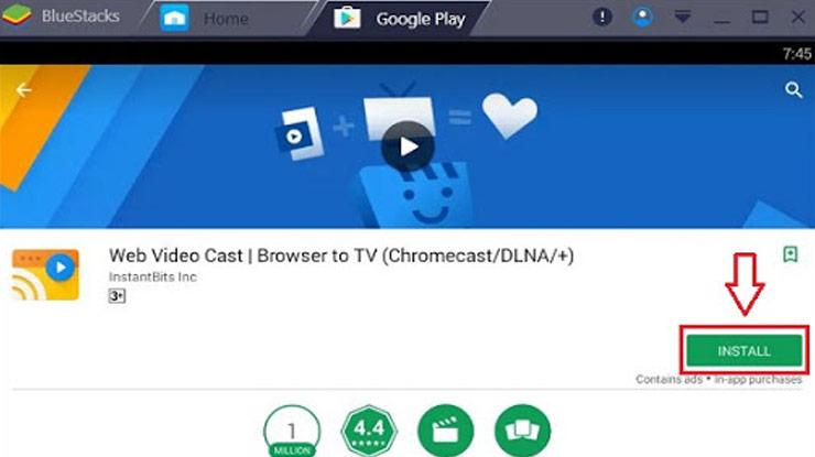 unduh dan install aplikasi Chromecast