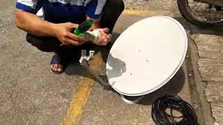 Cara Mengubah Parabola Menjadi Antena UHF.