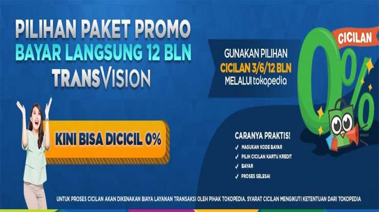 Promo Bayar Cicilan Paket Transvision