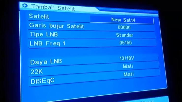 pilih Tambah Satelit