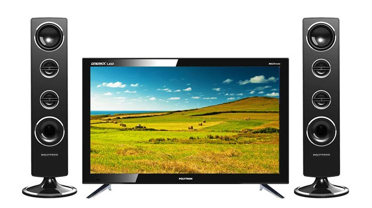 LED TV Polytron Cinemax with Tower Speaker 24T8511