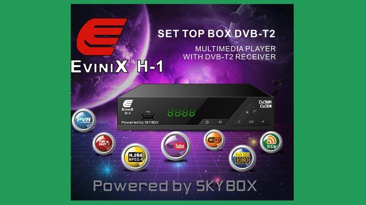 Receiver Evinix Antena UHF DVB T2