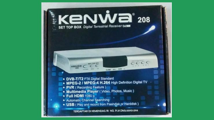 Receiver Kenwa Antena UHF DVB T2