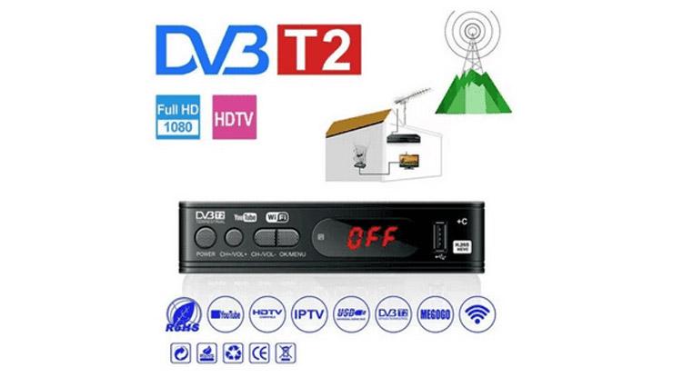 STB DVB T2 Digital Satelite TV Tuner Box Receiver 1080P