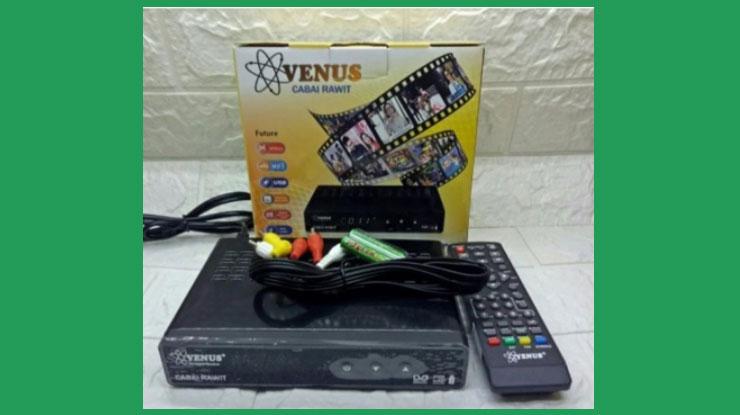 Set Top Box DVB T2 VENUS CABAI RAWIT