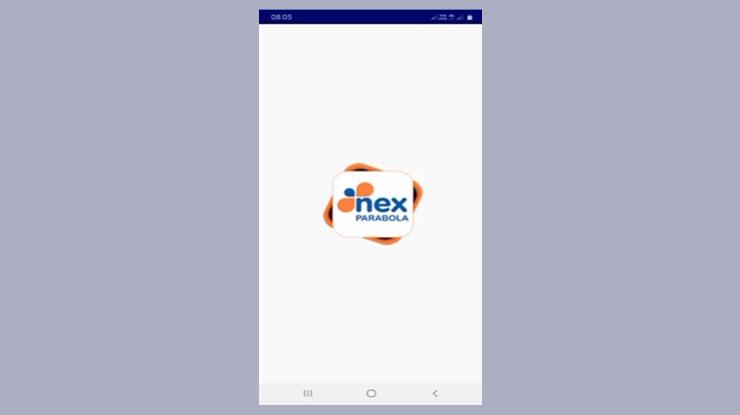 buka aplikasi Nex Parabola lalu klik ikon Nex Parabola 4