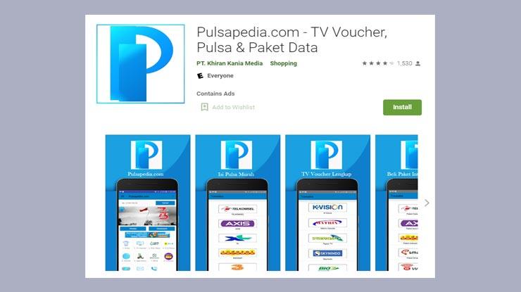 download dan install aplikasi Pulsapedia di Play Store