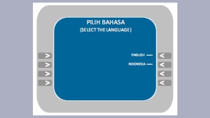masukan Kartu ATM lalu pilih Bahasa