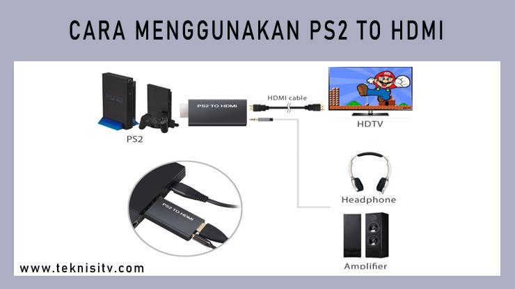 Cara Menggunakan PS2 to HDMI.