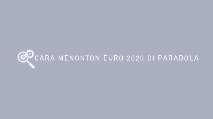 Cara Menonton EURO 2020 di Parabola