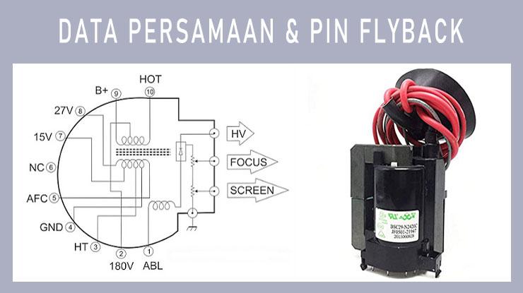 Data Persamaan Pin Flyback.