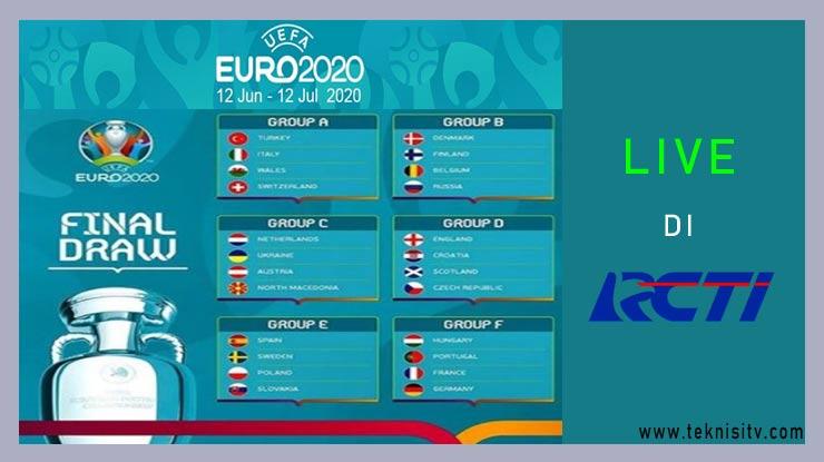 Jadwal Lengkap Fase Group EURO 2020 di RCTI 1